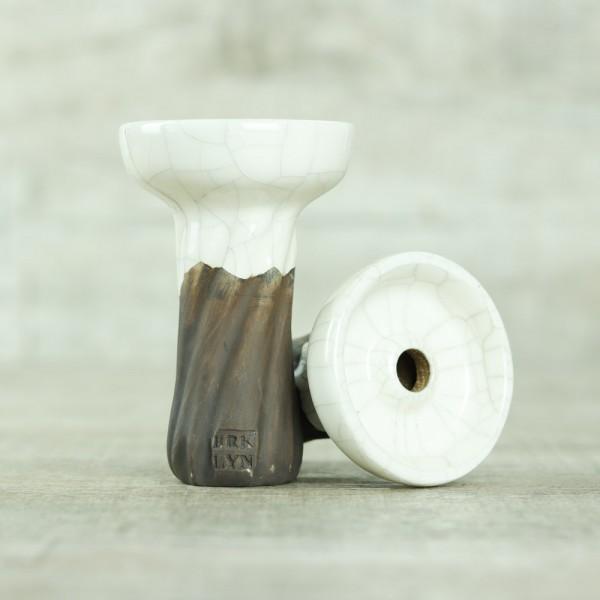 Brklyn Bowl Spiral Phunnel Glaze White Marble