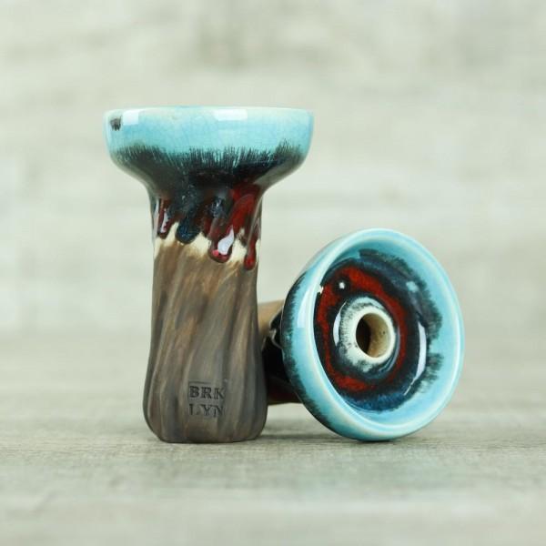 Brklyn Bowl Spiral Phunnel Glaze Red & Blue