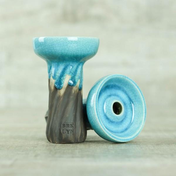 Brklyn Bowl Spiral Phunnel Glaze Deep Blue