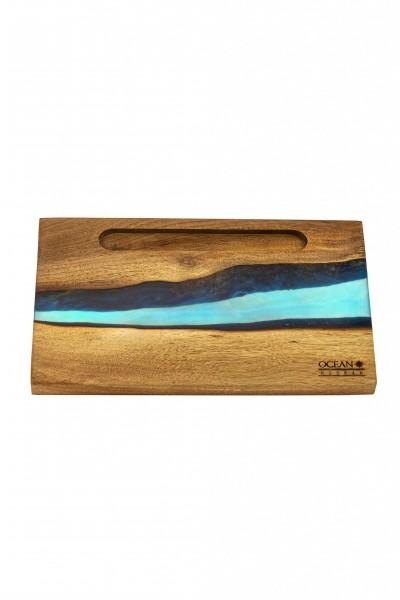 OCEAN Hookah Epoxidharz Kopfbaubrett eckig – Blue