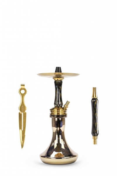 "Ocean Hookah Kaif S ""Small"" – Gold / Onyx / Gold Chrome"